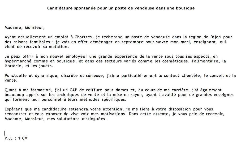 cover letter example  exemple de lettre de motivation candidature spontan u00e9e suisse