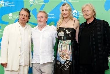 Edward James Olmos, Ridley Scott, Daryl Hannah y Rutger Hauer, hoy en Venecia