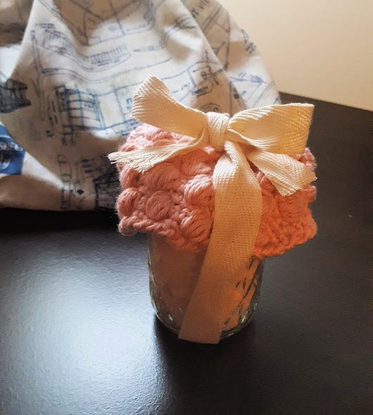 Crocheted Face Cloth & Mineral Soak Gift ~ Teadoddles