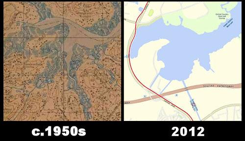 Map of Lower Seletar Reservoir