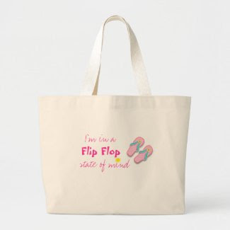 Beach bag with Flip Flop Quote