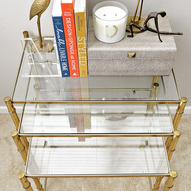 desertdomicileWould you believe me if I told you I paid $23 for this #vintage set of brass bamboo nesting tables?! ? Details on the blog (direct link in profile)!