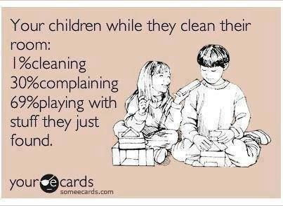 This may or may not be a lot like how I clean also...