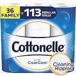 Cottonelle Ultra CleanCare Toilet Paper Strong Bath Tissue 36 Family