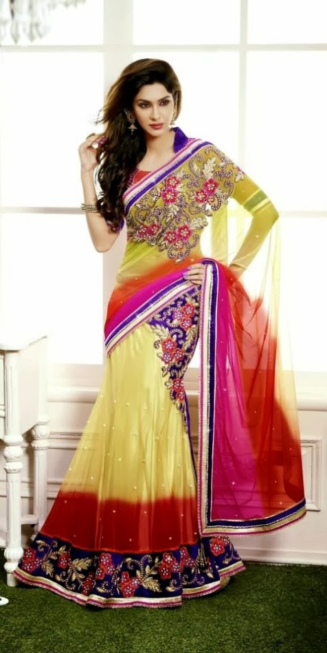 Bridal-Wedding-Rich-Heavy-Embroidered-Sarees-Designs-Lehanga-Style-Fancy-Sari-New-Fashion-14