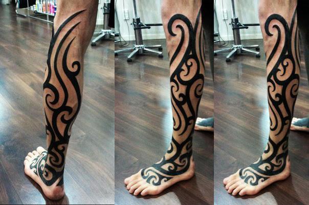 Leg Tribal Tattoo Best Tattoo Ideas Gallery