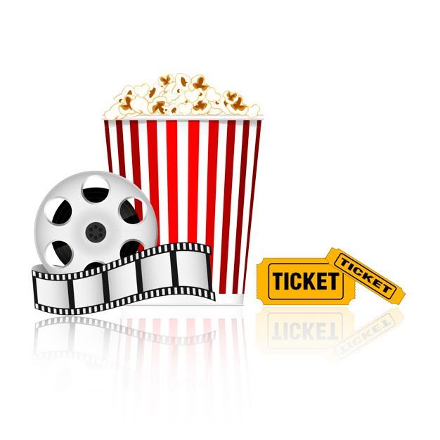 Movie Reel And Popcorn Clipart Zona Ilmu 6