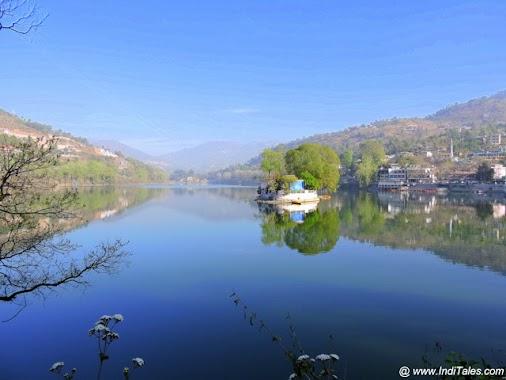Bhimtal lake landscape. Bhimtal, Sattal, Naukuchital - Mystical Lakes of Kumaon Valley read more  #travel...