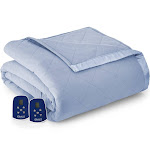 Micro Flannel Electric Heated Blanket Queen Wedgwood