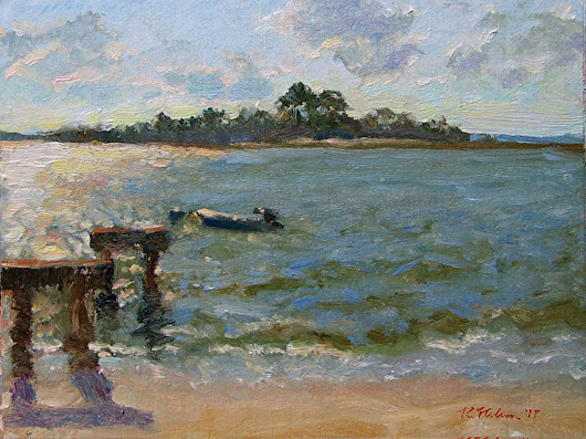 Tybee Island Afternoon (2015) Oil painting by Richard  Nelson