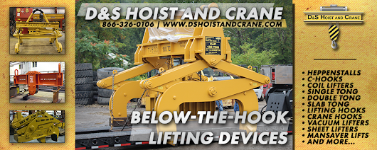 Restoration or Fabrication, D&S Hoist and Crane is your Below-the-Hook Lifting Device Headquarters!