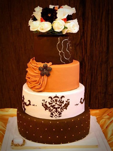 15 Fall Wedding Cake Ideas You May Love   Pretty Designs