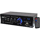Pyle PCAU46A PyleHome - Mini 2x120 Watt Stereo Power Amplifier with USB/SD Card Readers, Aux, CD Inputs & LED Display