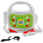 IQ Toys MP3 Player and Karaoke Machine with 2 Microphones Music Player for Kids - Bluetooth/MP3/USB/Micro SD Connection - Unlimited Cellular