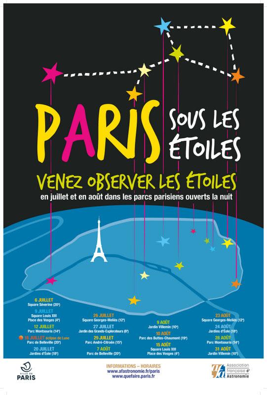 Opération Paris Sous Les étoiles 2019 Cultura Sciences 78
