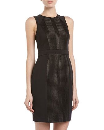 Ali Ro Sleeveless Paneled Combo Dress