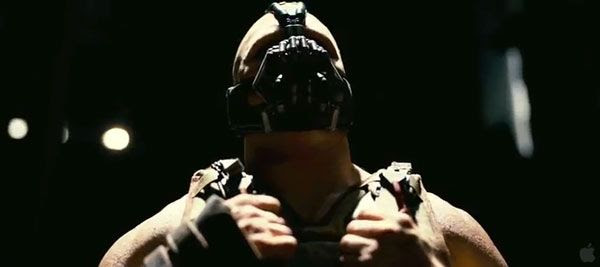Bane (Tom Hardy) is Gotham City's newest menace in THE DARK KNIGHT RISES.