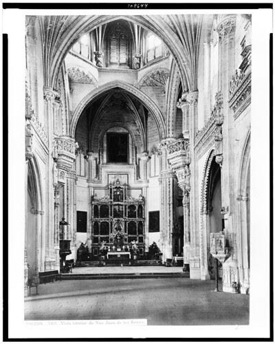 Monasterio de San Juan de los Reyes (interior) en el siglo XIX. Fotografía de Jean Laurent. The Library of Congress of the United States of America