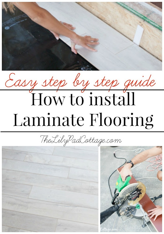 How to install Laminate Flooring - The Lilypad Cottage