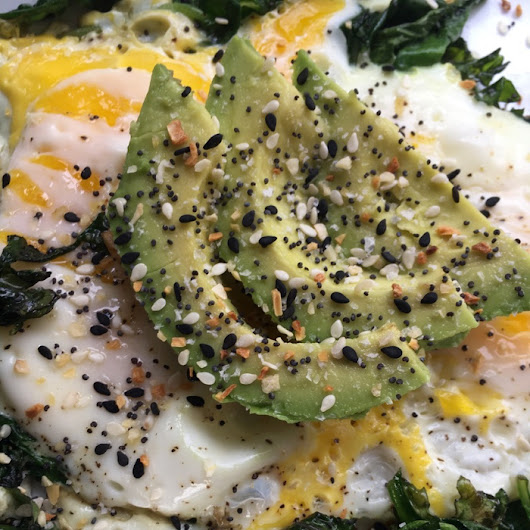Easy Egg Spinach and Avocado Breakfast