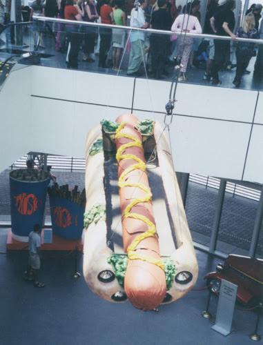 Giant hot dog