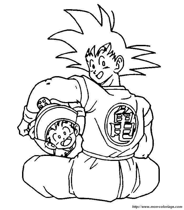 Collections Populaires Coloriage Dragon Ball Sangoku