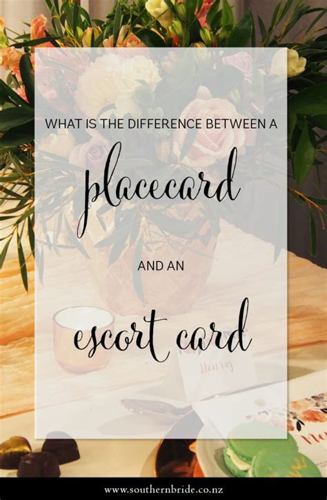 What?s the Difference Between Escort Cards & Place Cards