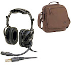 ASA AirClassics HS-1A Headset & Headset Bag Combo, Size: Adult
