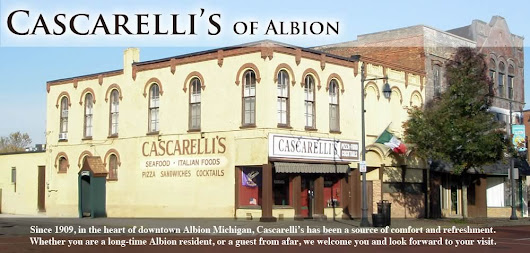 Cascarelli's of Albion | Albion Michigan, Restaurant, Fine Dining, Micro Brewery beers, redskins peanuts