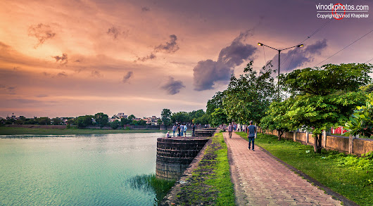 Beautiful view of Sonegaon Lake