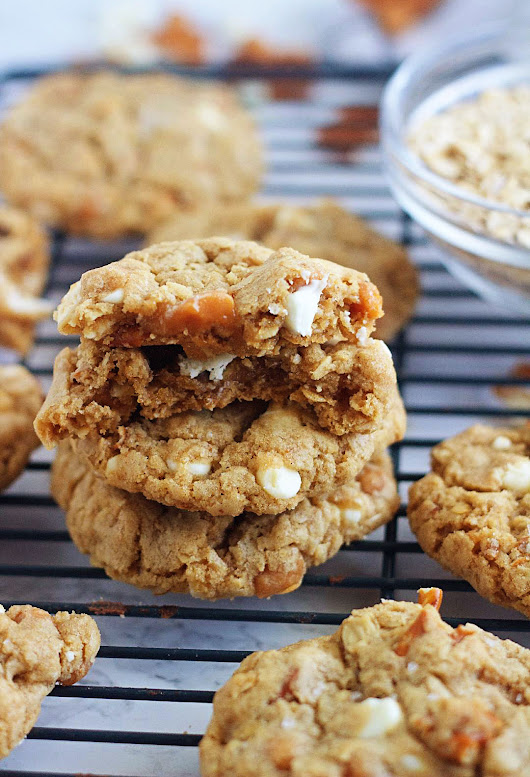 White Chocolate Chip Caramel Pretzel Cookies - Life In The Lofthouse