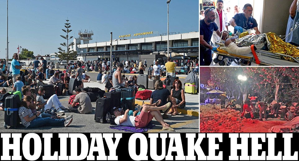 Killer earthquake and tsunami hits Greece and Turkey