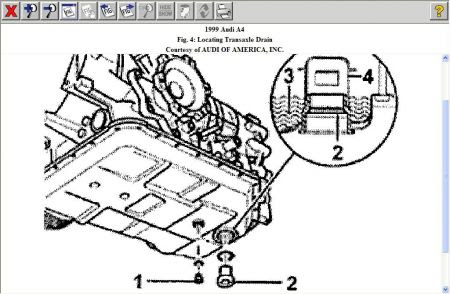 1999 Audi A4 Transmission Fluid Check
