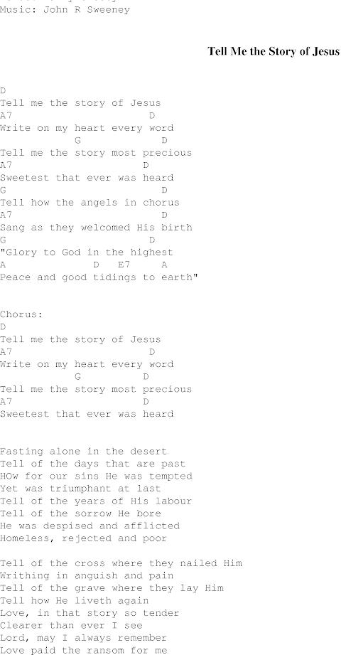 Tell Me The Story Of Jesus Lyrics Gaither Vocal Band