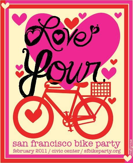SF Bike Party #2 spokecard -- February 2011