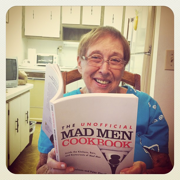 @milliegarfield with the Unofficial Mad Men Cookbook