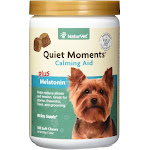 NaturVet, Quiet Moments, Calming Aid Plus Melatonin, 180 Soft Chews
