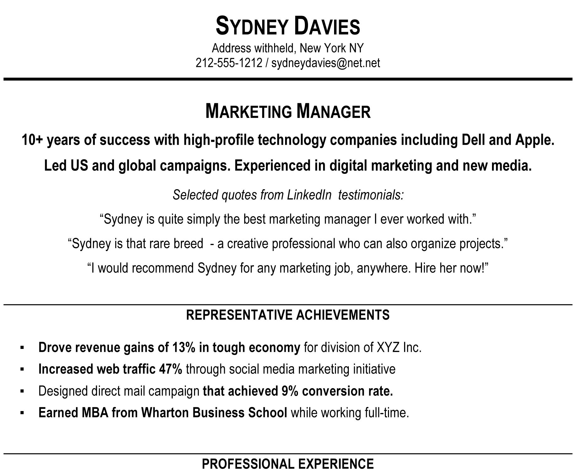 whats a good objective for a resume resume example