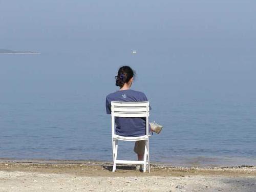Woman sit alone