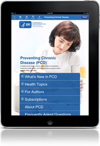 Photo of an iPad showing the PCD app