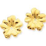 14 Karat Yellow Gold Polished Floral Earring Jackets, by Versil