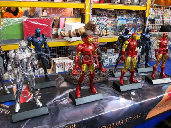 Iron Man statues