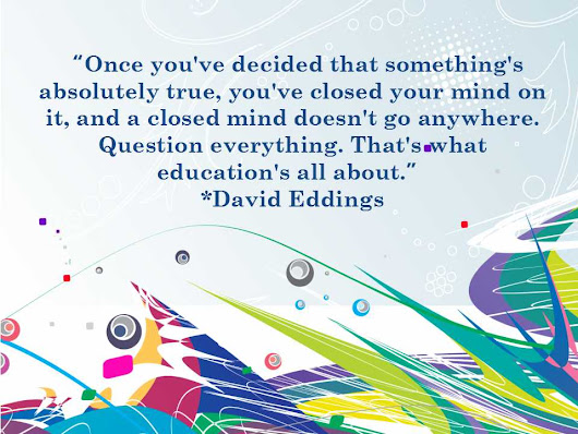 #Quotes ~ Never Stop Re-Thinking the Answer
