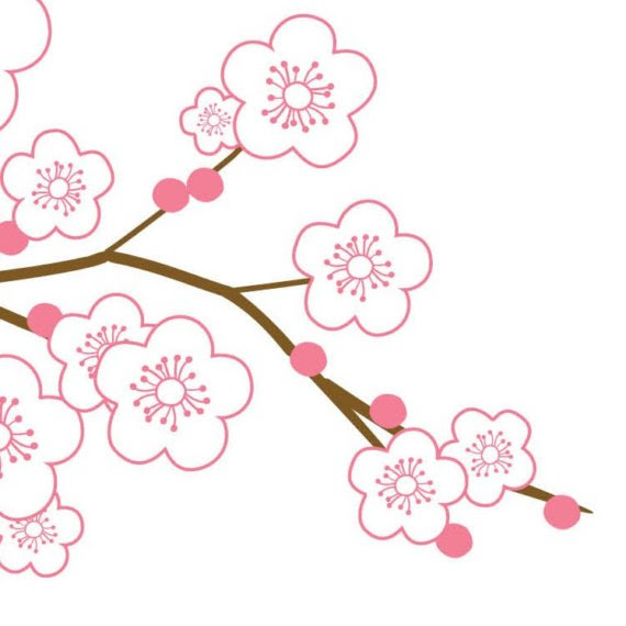 17 Cherry Blossom Outline Design Images Cherry Blossom Drawing