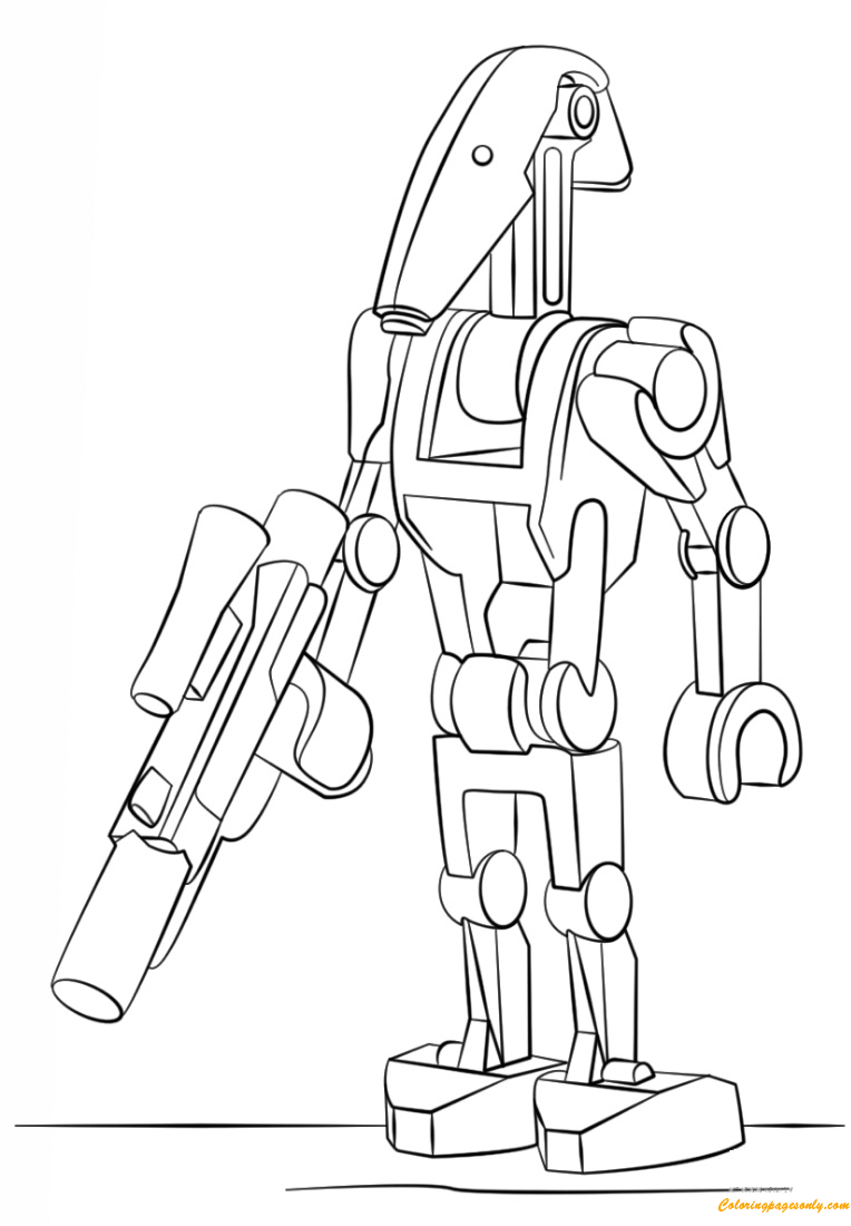 Download Lego Battle Droid Coloring Page - Free Coloring Pages Online
