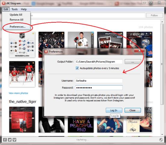 4k Stogram Preference Screen
