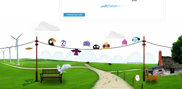 Bei-Blog creative footer designs
