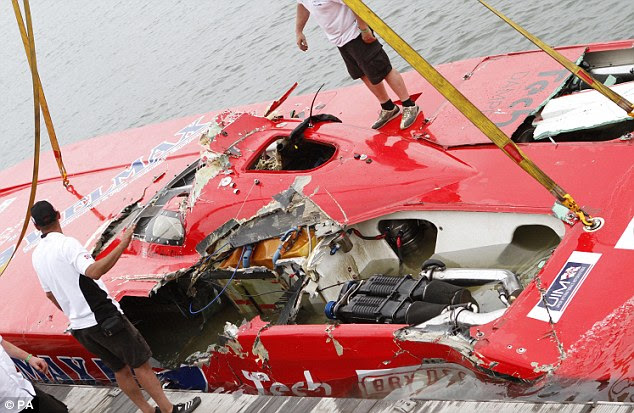 William Nocker death: British powerboat racer killed in 120mph crash
