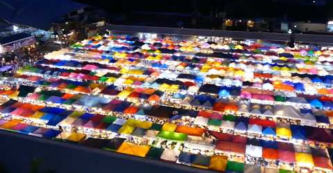 Chợ đêm cầu vồng Rod Fai Thái Lan có gì Thailand Rod Fai night Market