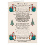humorous christmas poem santa and xmas tree art greeting card